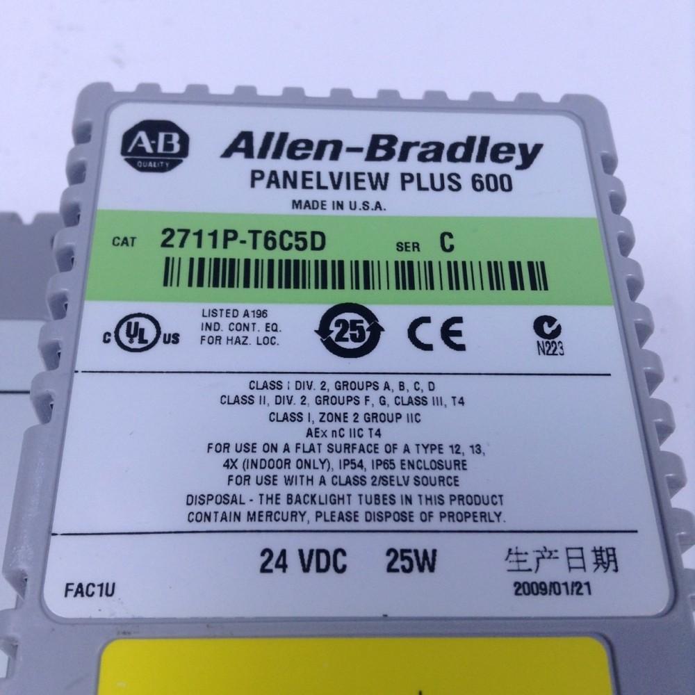 Allen Bradley 2711P-T6C5D PanelView Plus 600 Ser C 2711P UMP