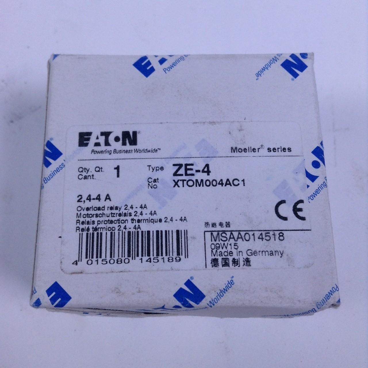 Neu Moeller ZE-4,0 Motorschutzrelais