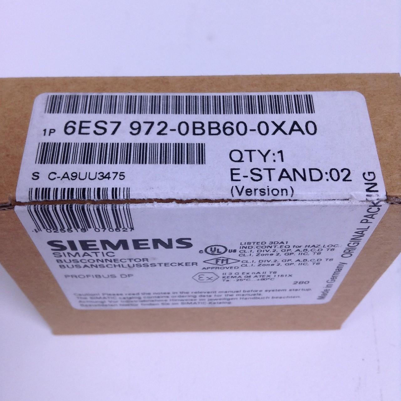 Siemens 6ES7 972-0BB60-0XA0 6ES7972-0BB60-0XA0 E-Stand used 02 Busconnector