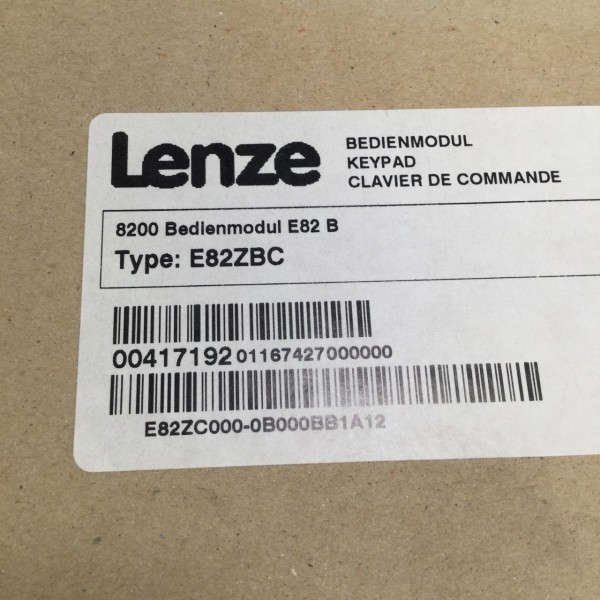 Lenze e82zbc 8200 bedienmodul teclado numérico e82b New