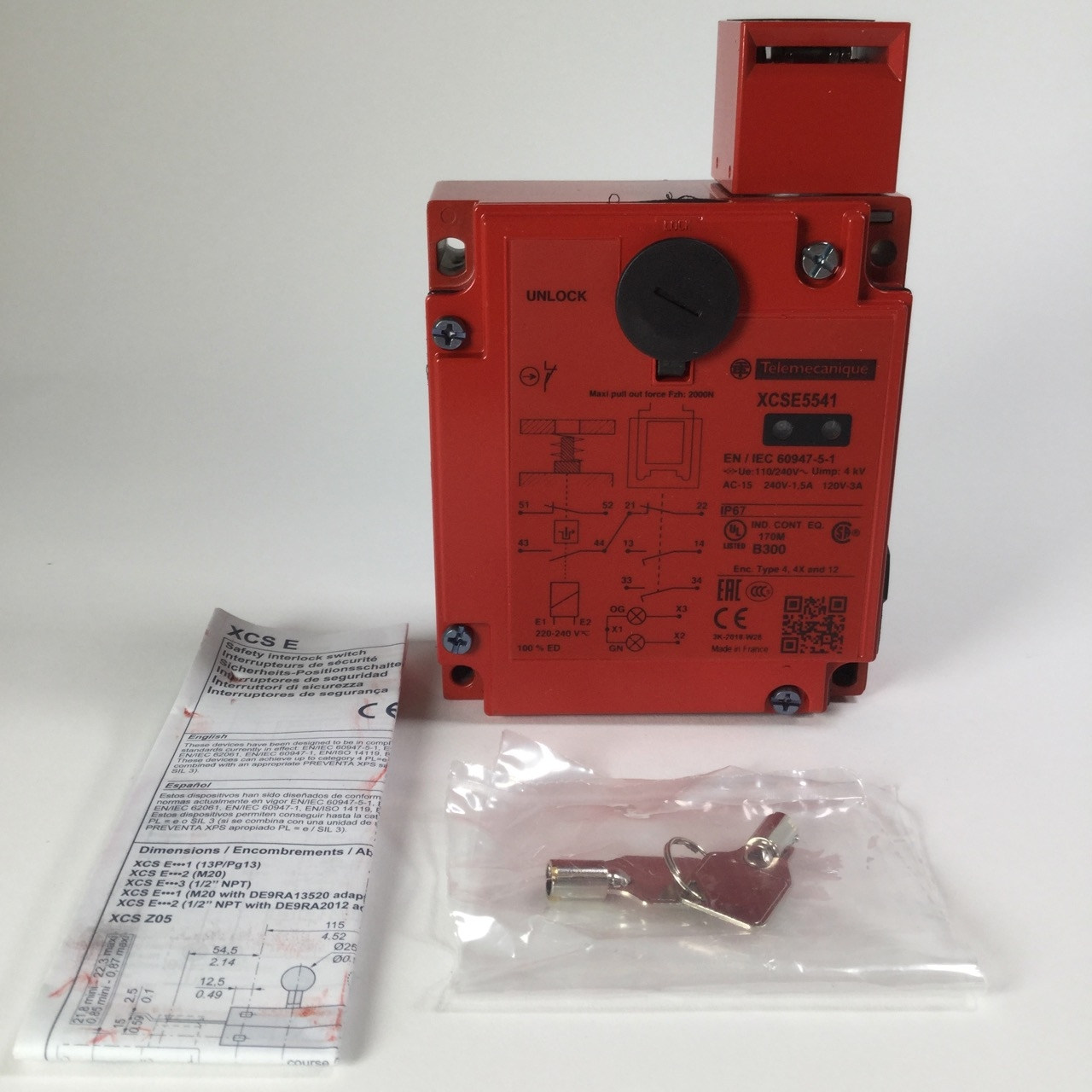 Telemecanique xcse 7311 Metal Safety Switch PREVENTA SAFETY DETECTION NEW NFP